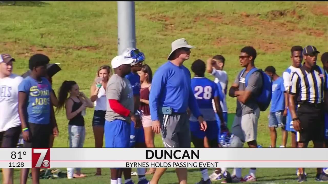 Byrnes Holds Annual Passing Tourney