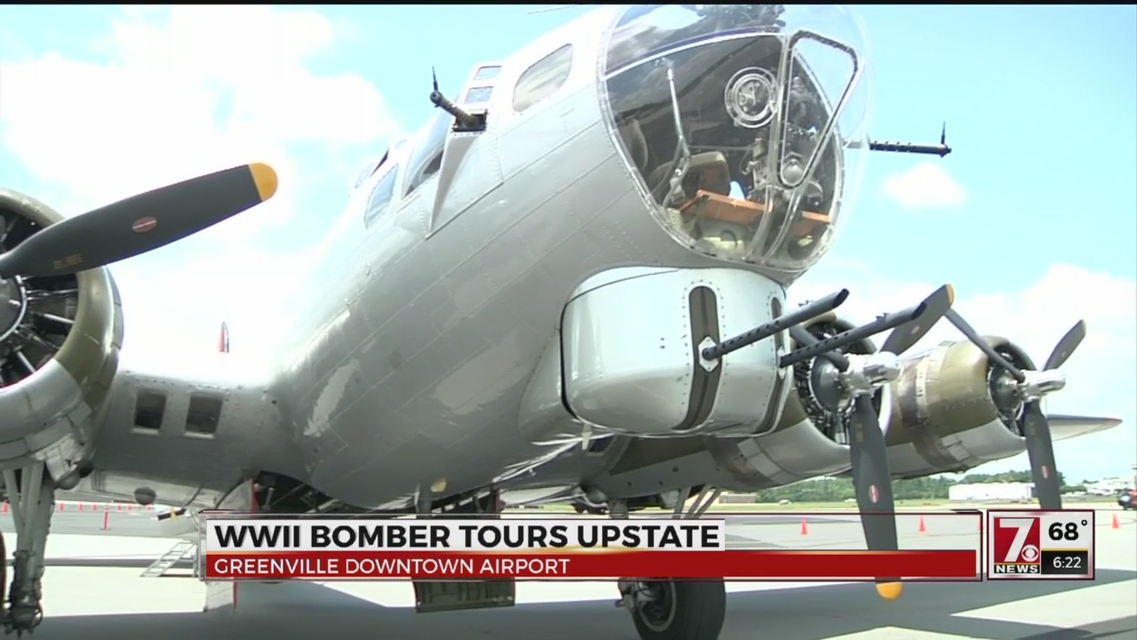 WWII bomber plane on display in Greenville