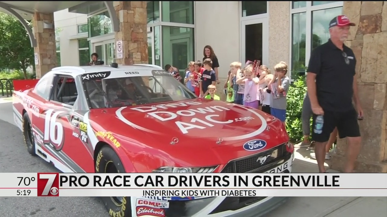 Pro race car drivers inspire young campers