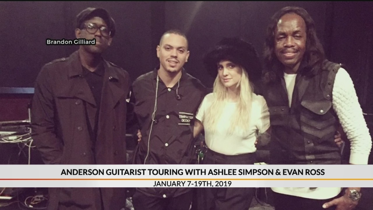 Anderson guitarist to tour with Ashlee Simpson and Evan Ross
