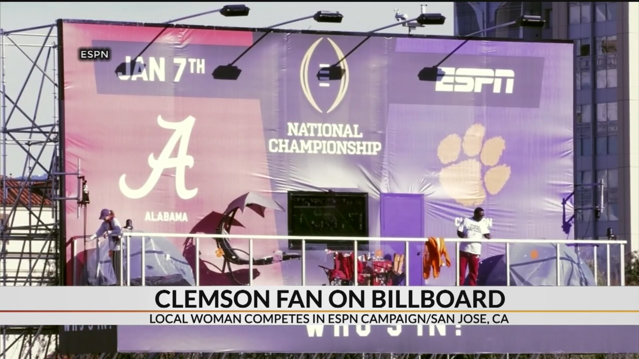 Clemson graduate living on ESPN Billboard for 12 days