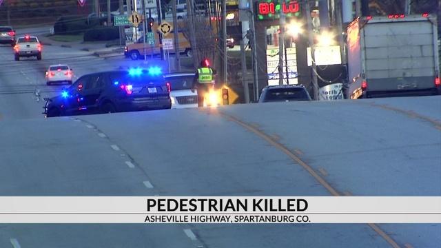 Pedestrian killed in crash on Asheville Hwy in Spartanburg