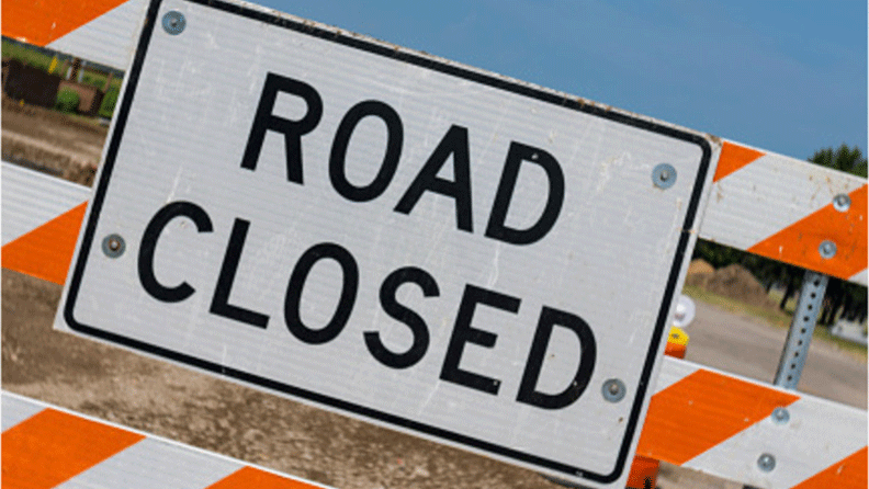 generic road closure road closed