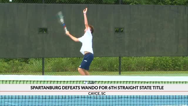 Spartanburg Defeats Wando to Win 6th Straight Boys Tennis State Championship