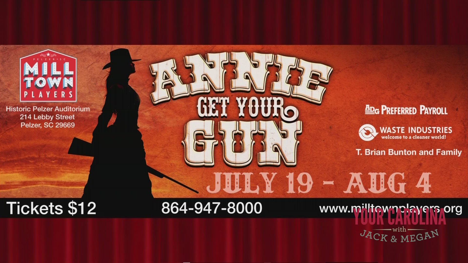 "Milltown Players Presents ""Annie Get Your Gun"""