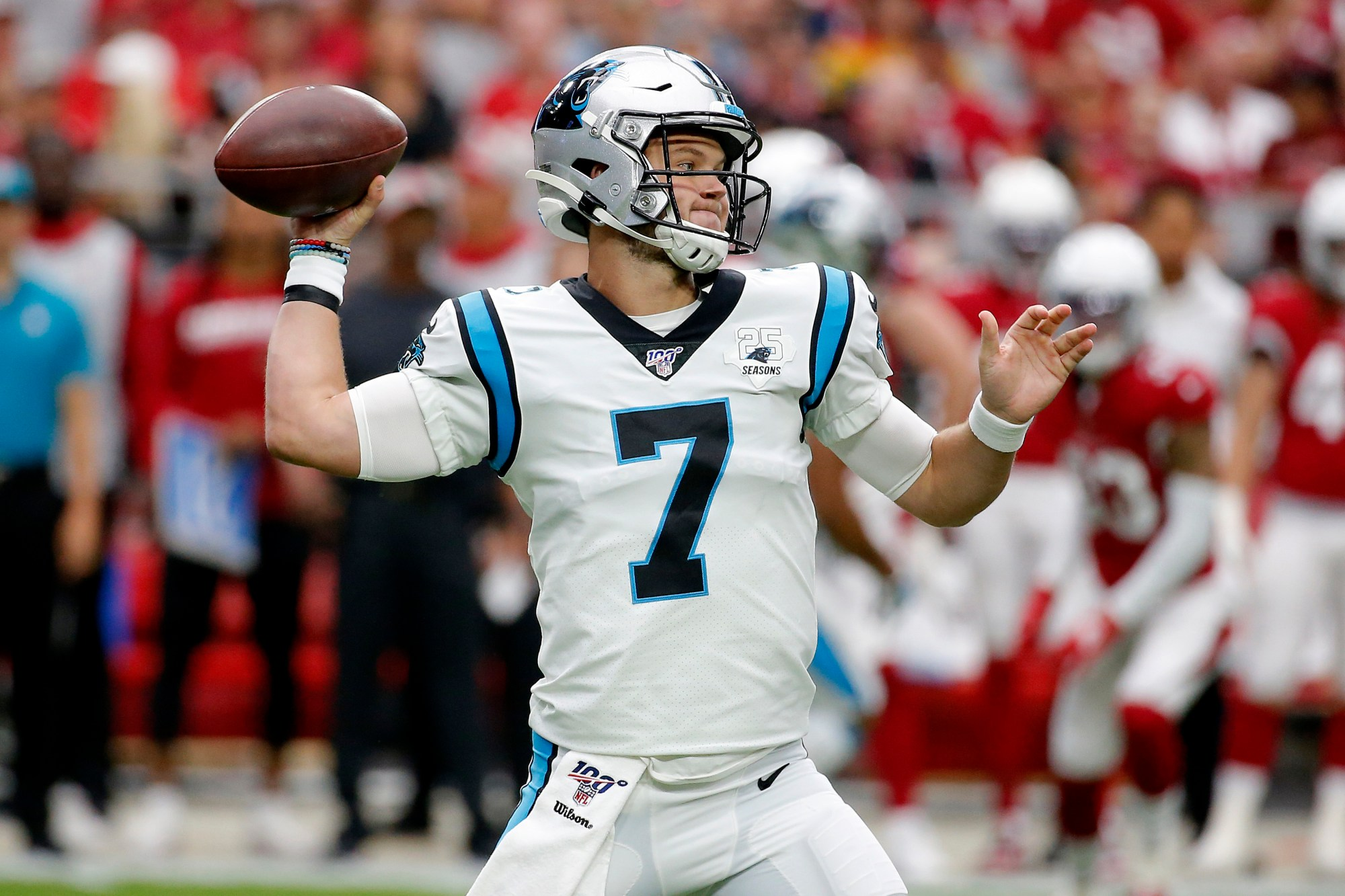 buy popular 96e79 696cf Allen throws 4 TDs, Panthers beat Cardinals 38-20