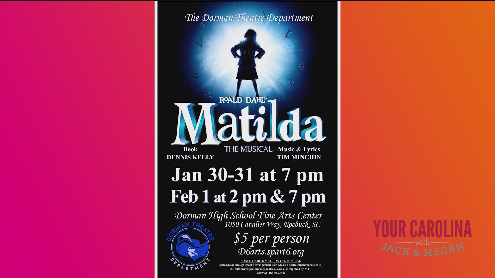 The Dorman Theatre Department Presents Matilda the Musical