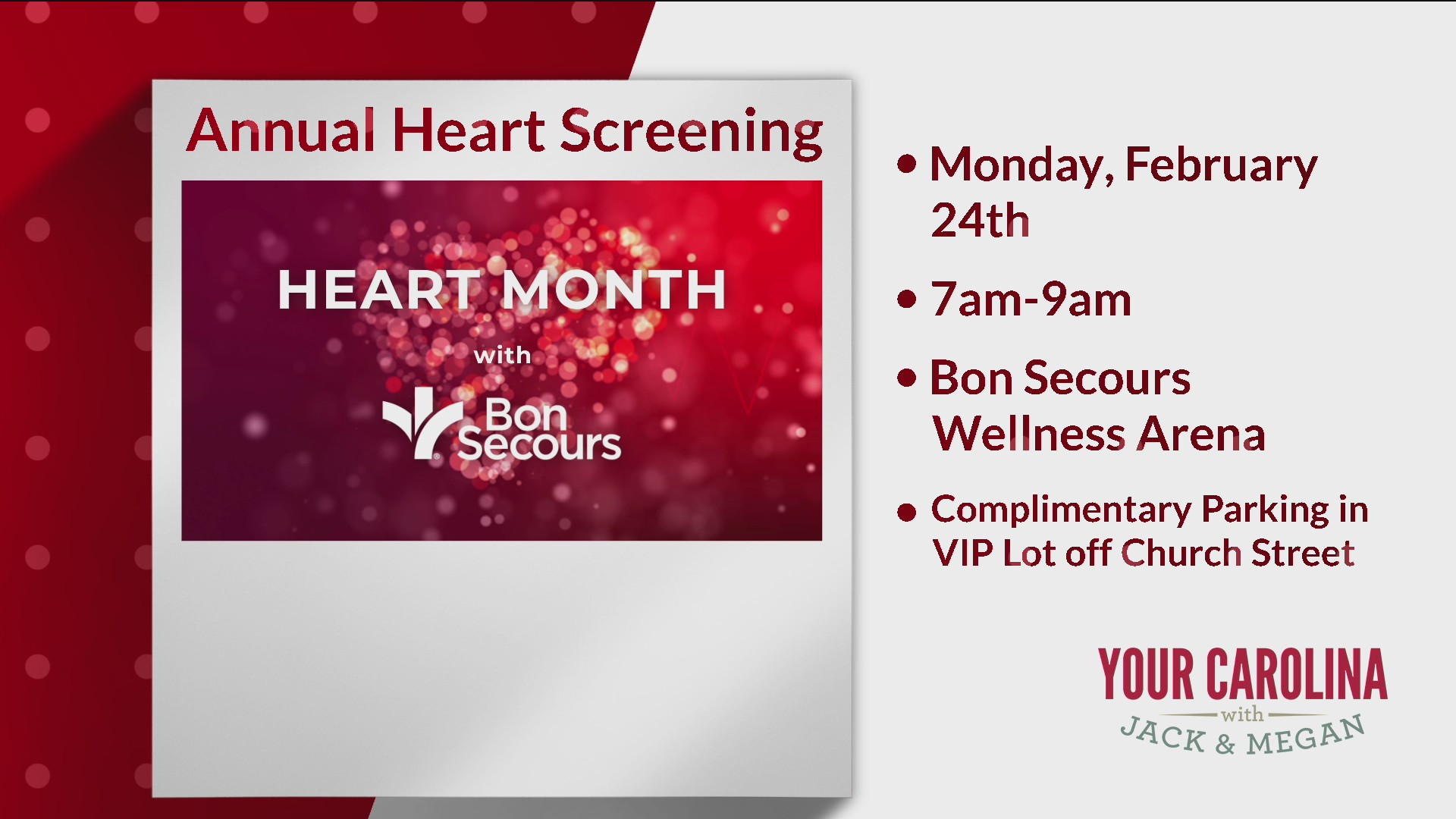 Bon Secours Annual Heart Screening
