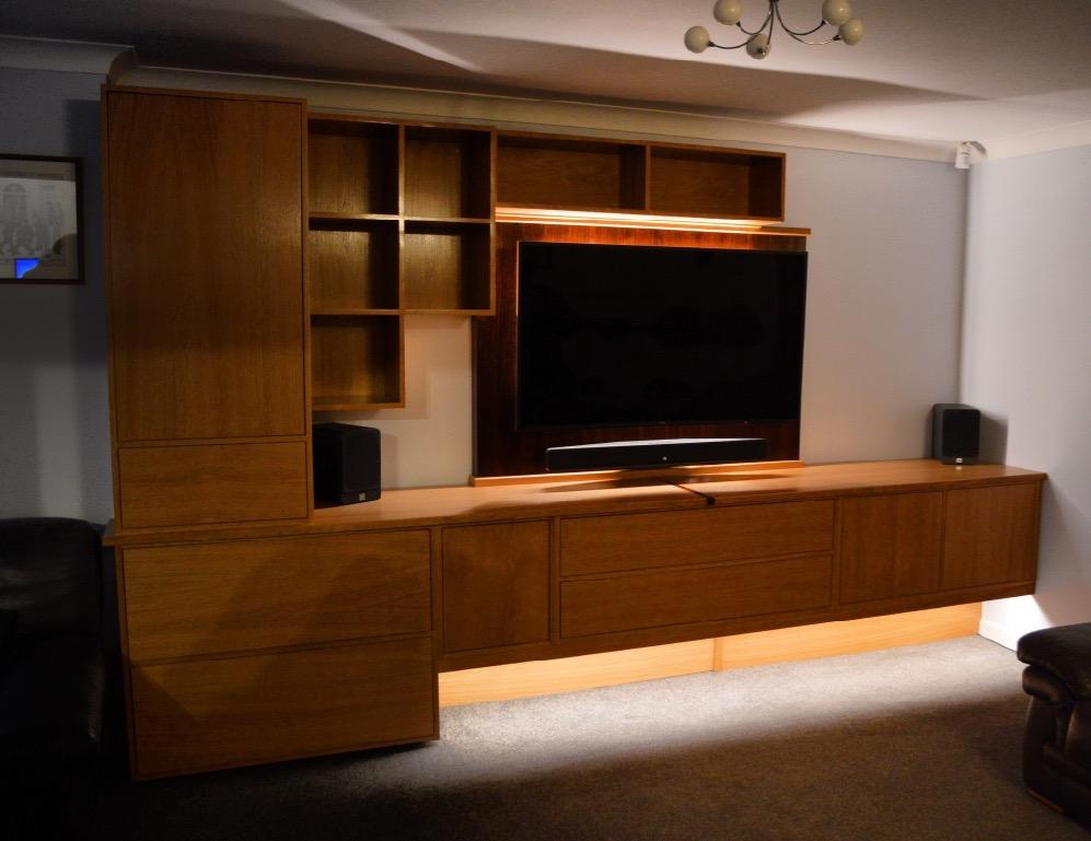 Bespoke Media  Entertainment Units  WSpencer Interiors