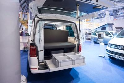 Einblick in den Kofferraum vom WSR Classic auf Basis des VW Transporter der 6. Generation