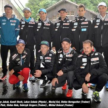 A-Team der polnischen Skisprungnationalmannschaft in Rastbüchl
