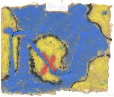 Savanna's pulp painted map