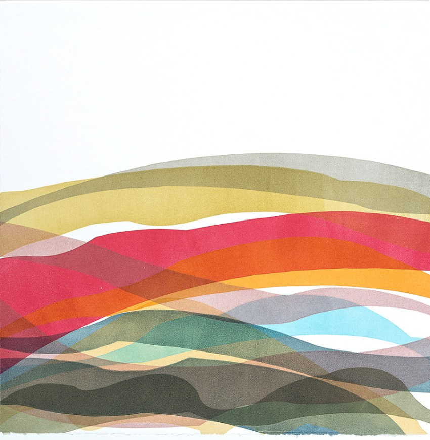 Strata 5, monoprint, Laura Berman