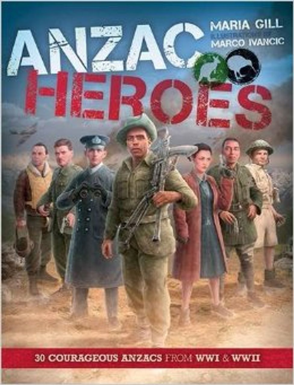 ANZAC heroes book cover