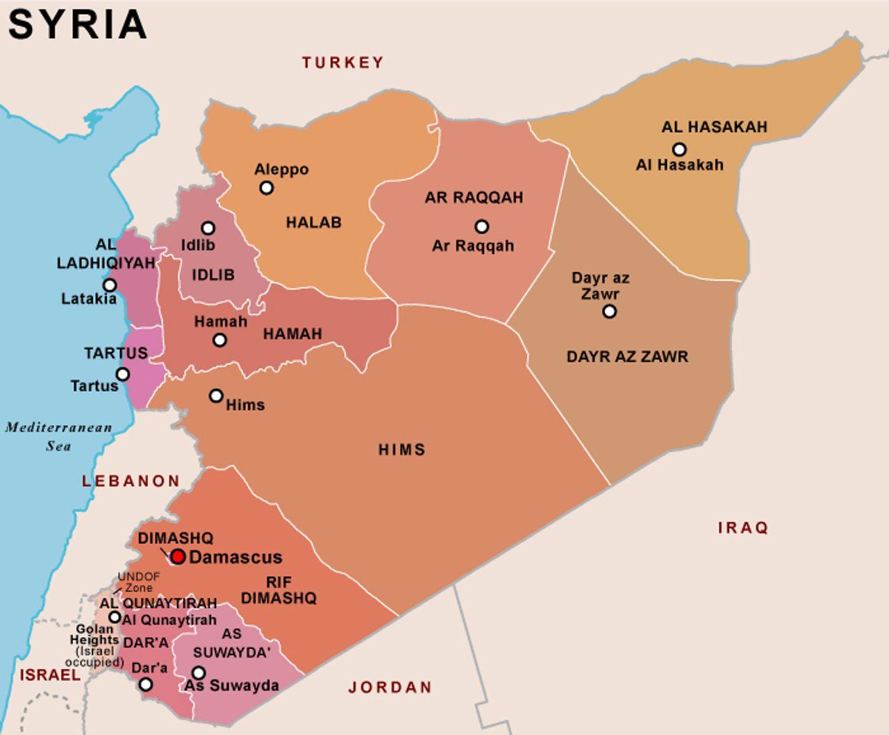 Syria's provinces