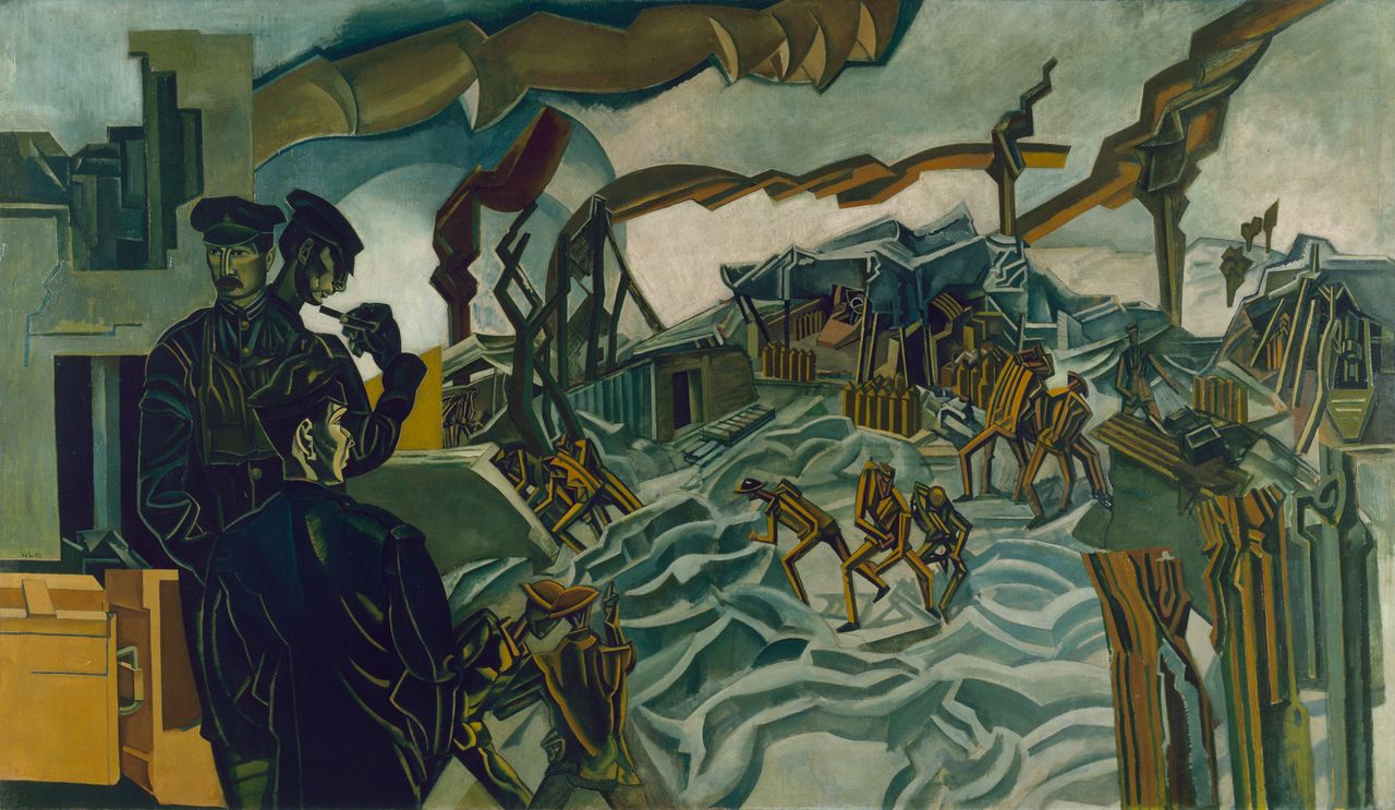 Percy Wyndham Lewis, A Battery Shelled, 1919
