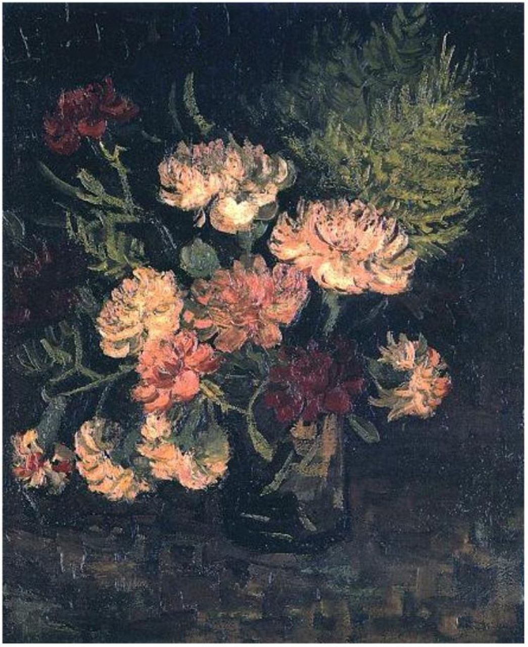 Vase with Carnations, Vincent van Gogh Painting, Oil on Canvas Paris: Summer, 1886 The Detroit Institute of Arts