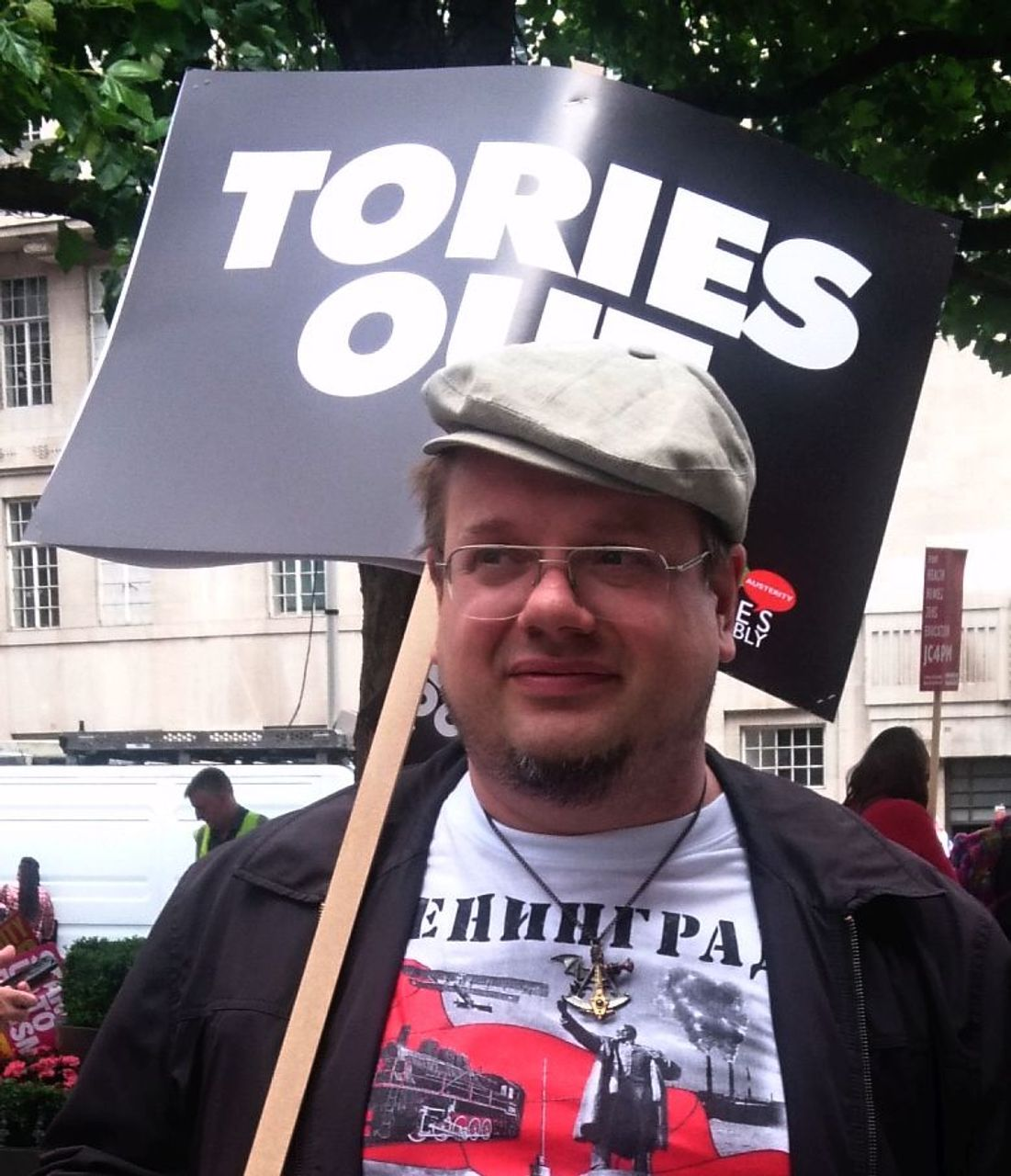 Andrew, London 1 July anti-Theresa May demonstrator