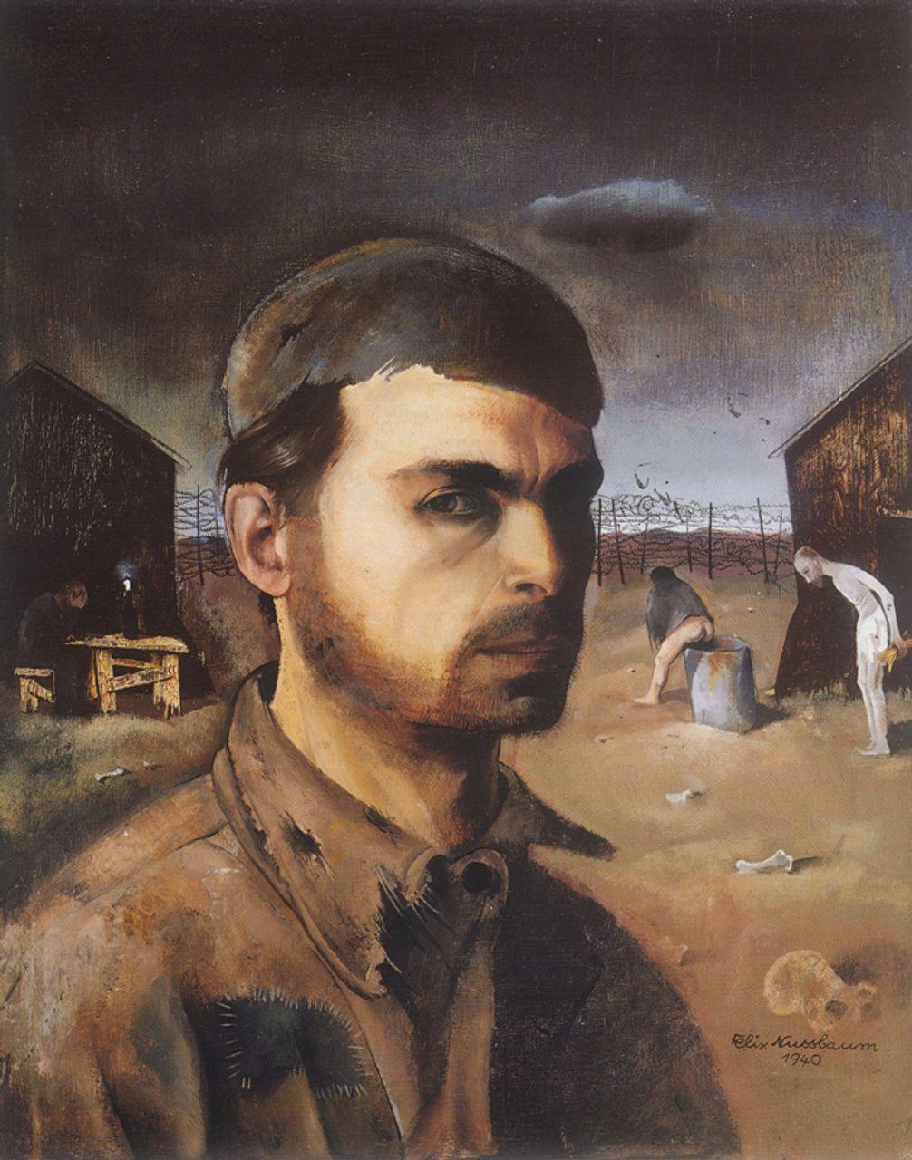 Felix Nussbaum, Self-Portrait in the Camp (1940)