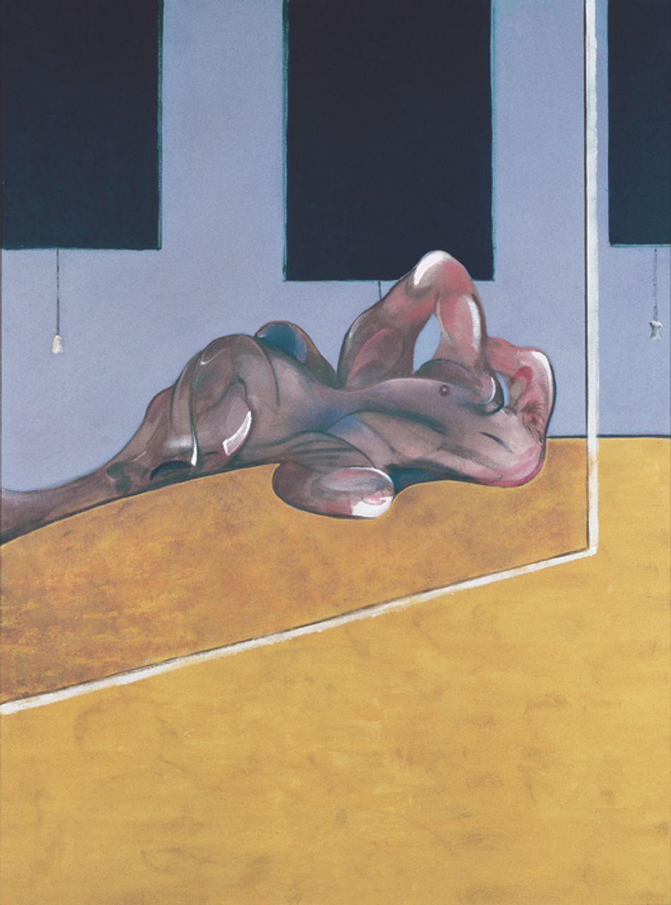 Francis Bacon, Lying Figure in a Mirror (1971) © Estate of Francis Bacon / SODRAC (2013)