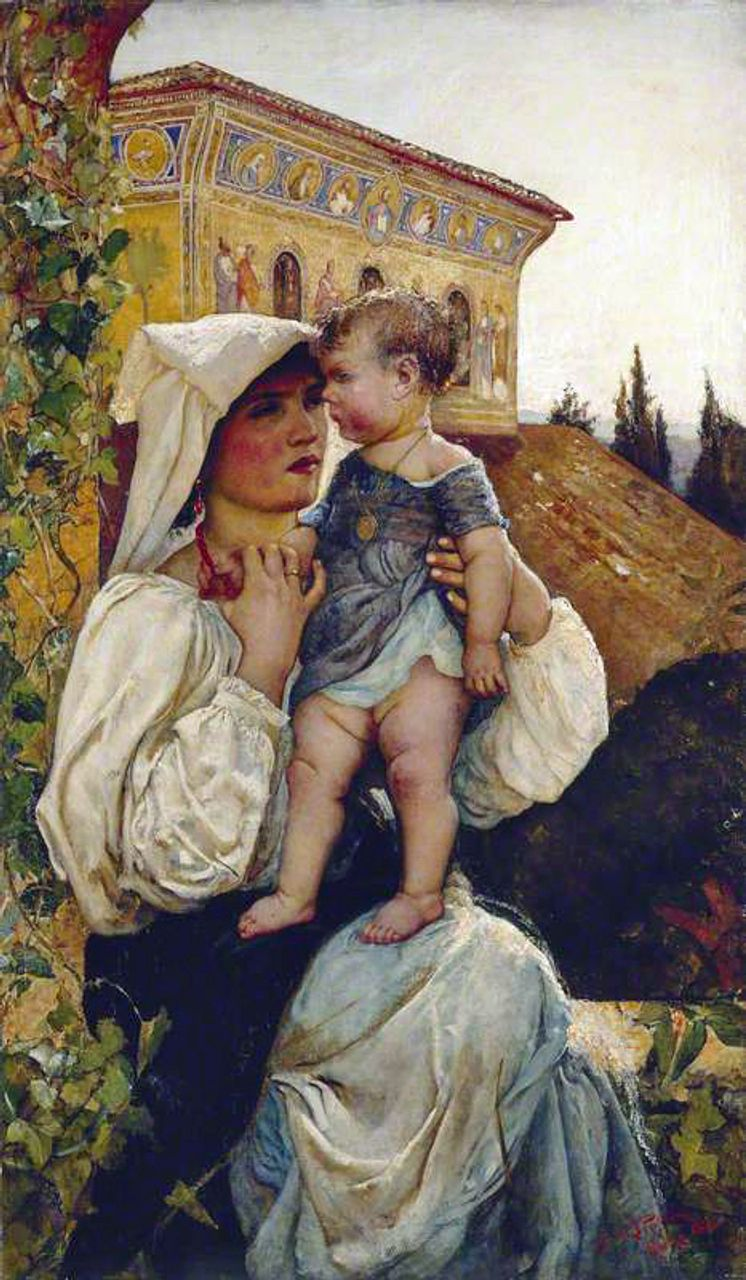 An Italian Mother and Child, 1886, courtesy of Manchester Art Gallery