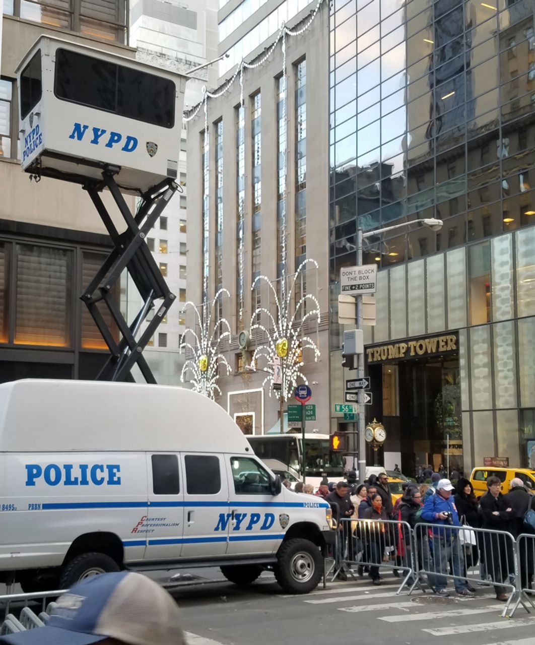Increased security at The Trump Tower in New York City
