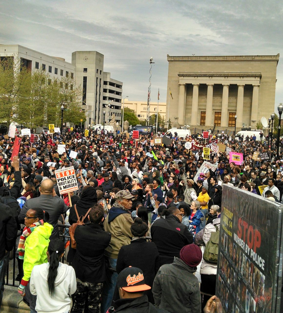 Rally in Baltimore against killing of Freddie Gray