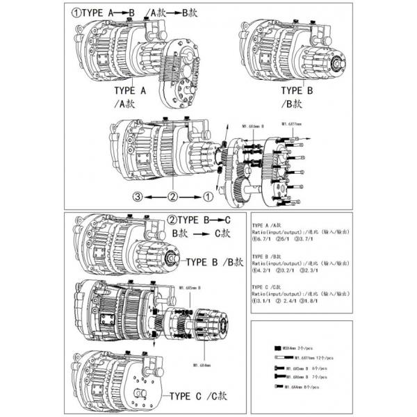 1/14 scaleclub 3 speed transmission box for tamiya