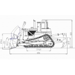 1/12 RC all metal made Hydraulic bulldozer with RC remote