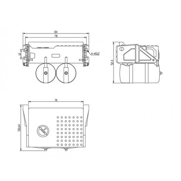 1/14 all metal truck air reservoir tank set with tool box