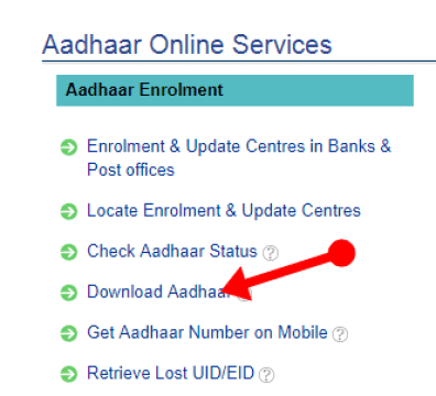 e-aadhar card download common