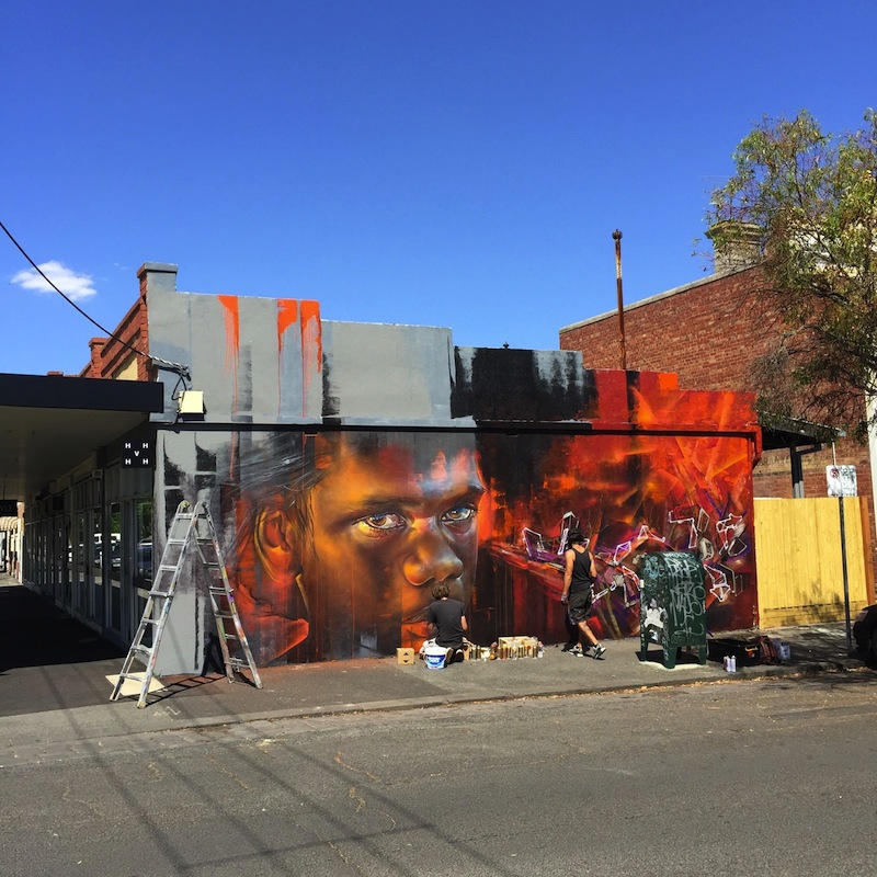 Mural by Adnate and Plea in Melbourne