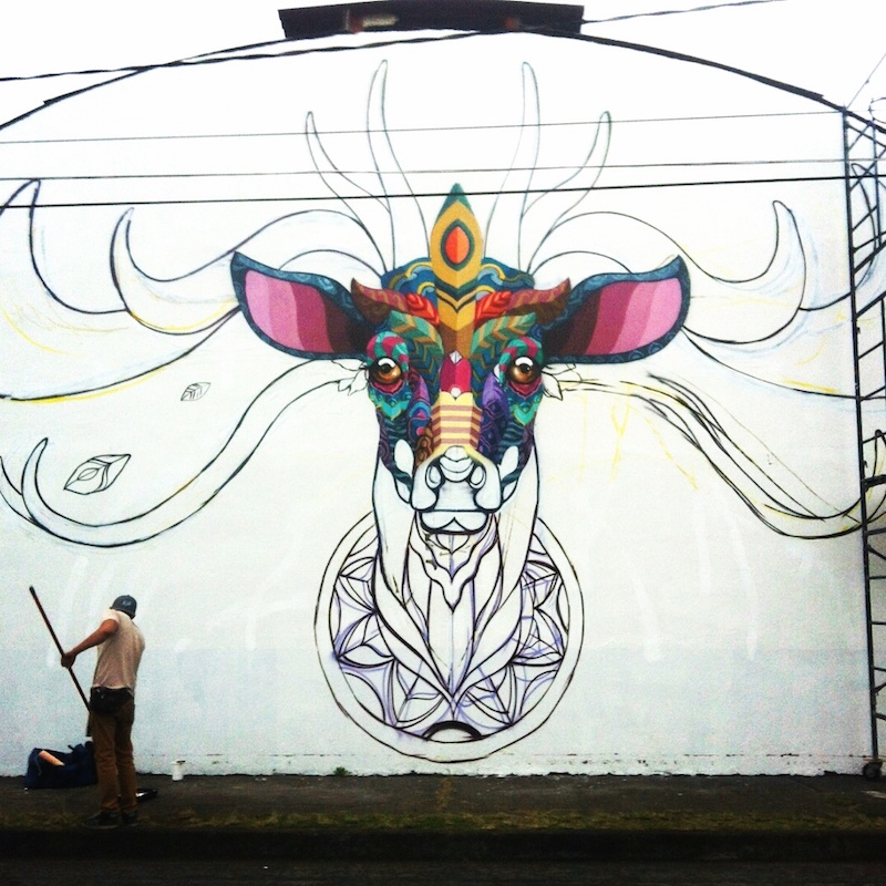 Neues Mural von Farid Rueda in Uruapan/Mexico