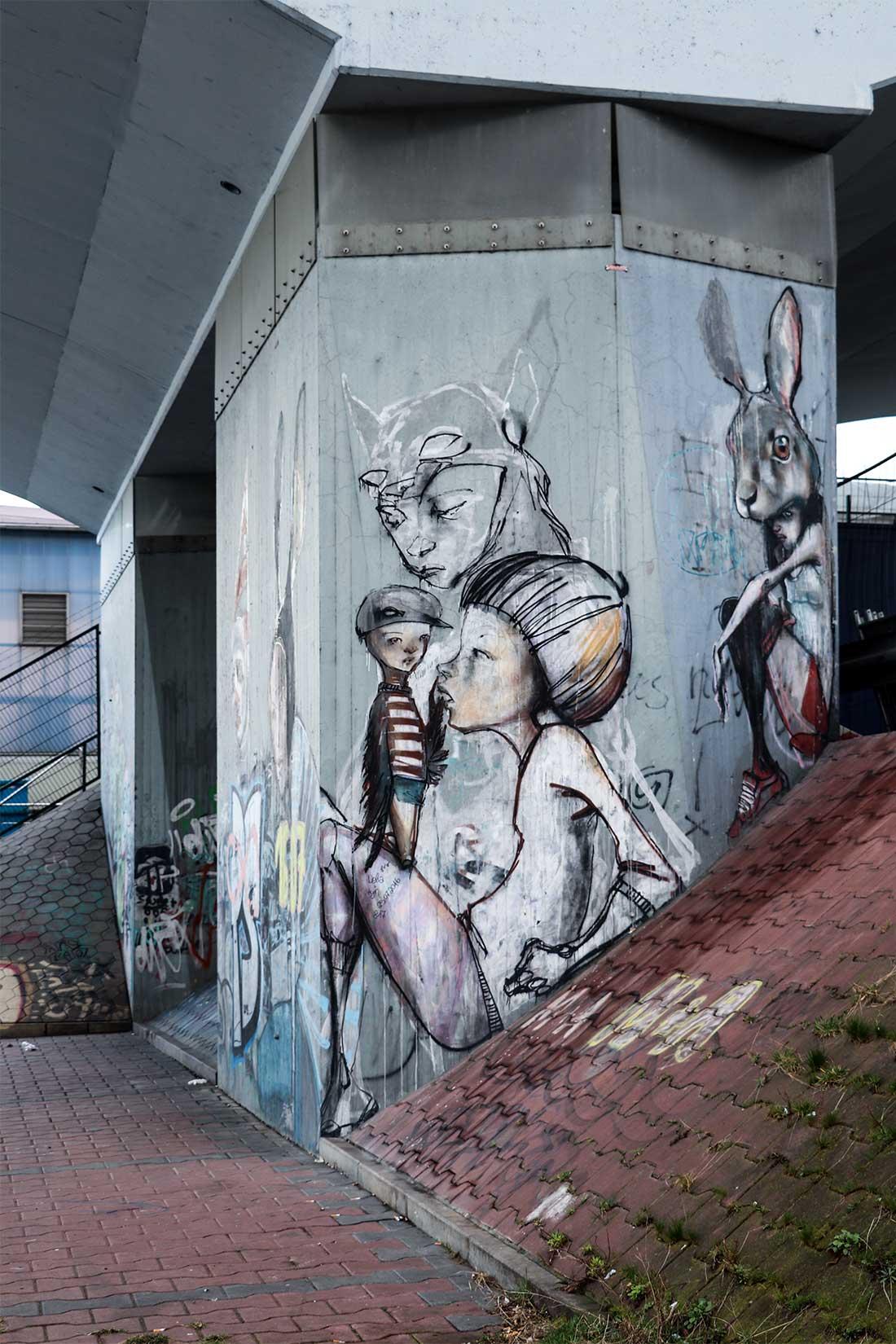 Street Art Frankfurt Höchst. Herakut.
