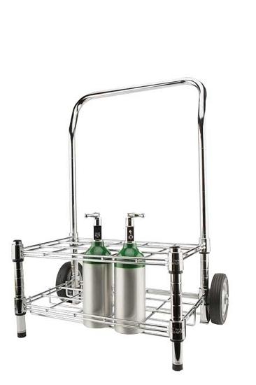 15 M6 / M4 Oxygen Tilt Back Cylinder Cart From WT Farley