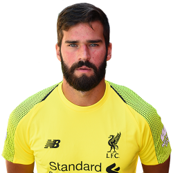 Picture of the 1.91 m (6 ft 3 in) tall Brazilian goalkeeper of Liverpool