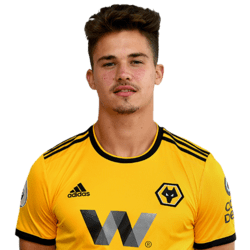 Picture of the 1.88 m (6 ft 2 in) tall Belgian centre back of Wolverhampton Wanderers