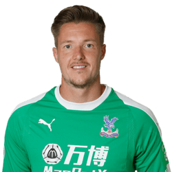 Picture of the 1.98 m (6 ft 6 in) tall Welsh goalkeeper of Crystal Palace