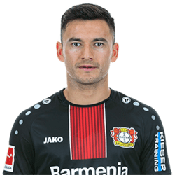 Picture of the 1.71 m (5 ft 6 in) tall Chilean central midfielder of Bayer Leverkusen