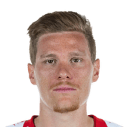 Picture of the 1.88 m (6 ft 2 in) tall German Left Back of Red Bull Leipzig