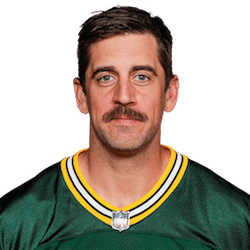Picture of the 6 ft 2 in (1.88 m) tall American quarterback of Green Bay Packers