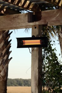 Black Steel Wall Mounted Infrared Patio Heater | Well ...