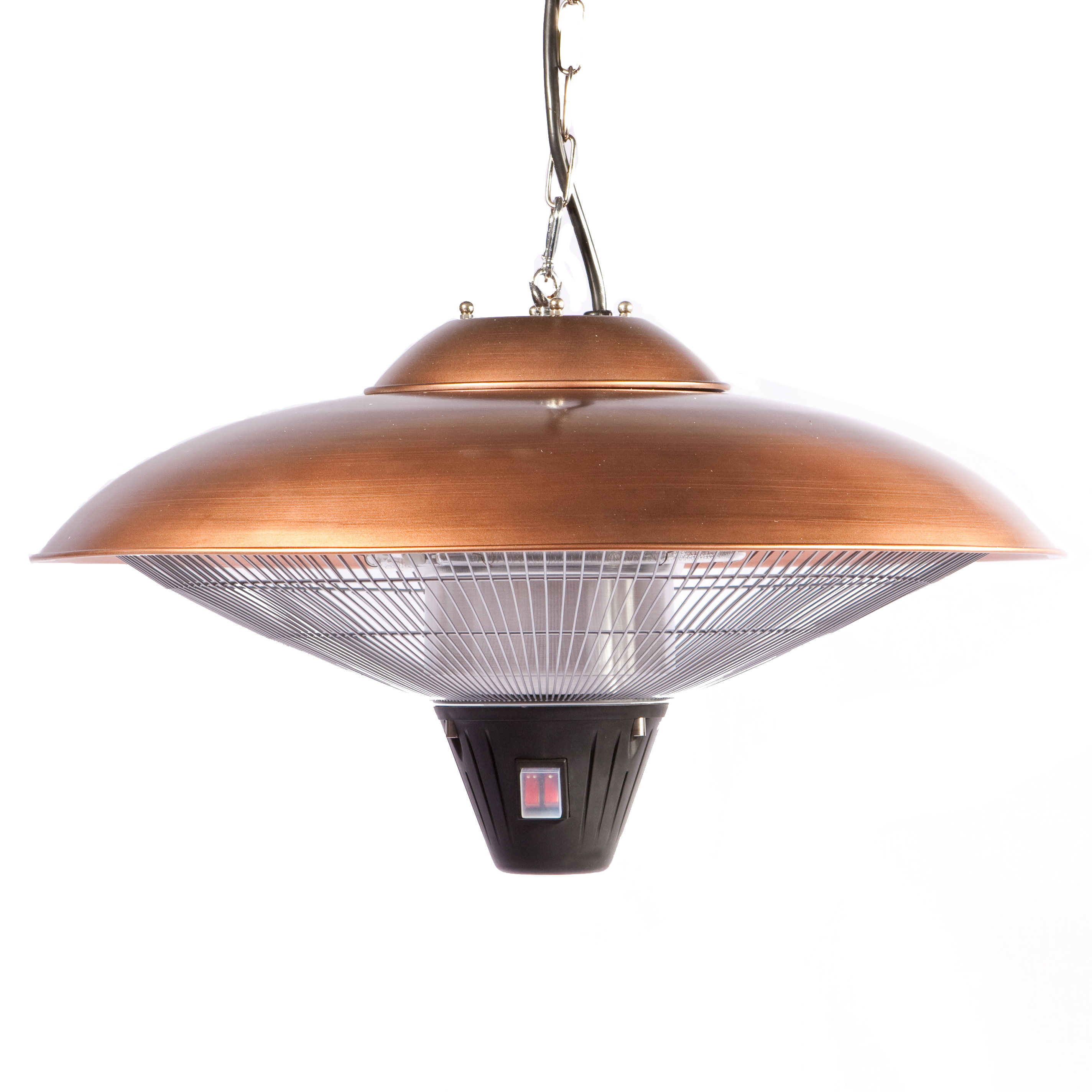 copper hanging patio heater well