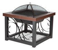 Hammer Tone Bronze Finish Cocktail Table Fire Pit  Costco ...