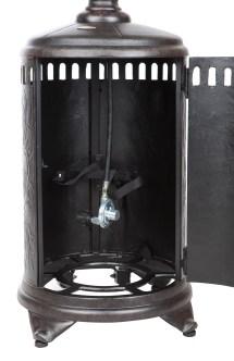 Sedona Cast Aluminum Propane Patio Heater Traveled