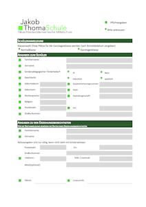 Anmeldeformular PDF Download