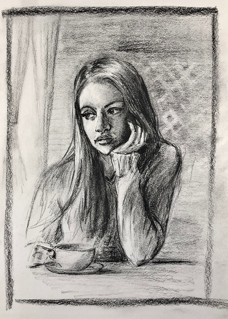 Girl Coffee Shop Char Coffee Woman  - akarudsan / Pixabay