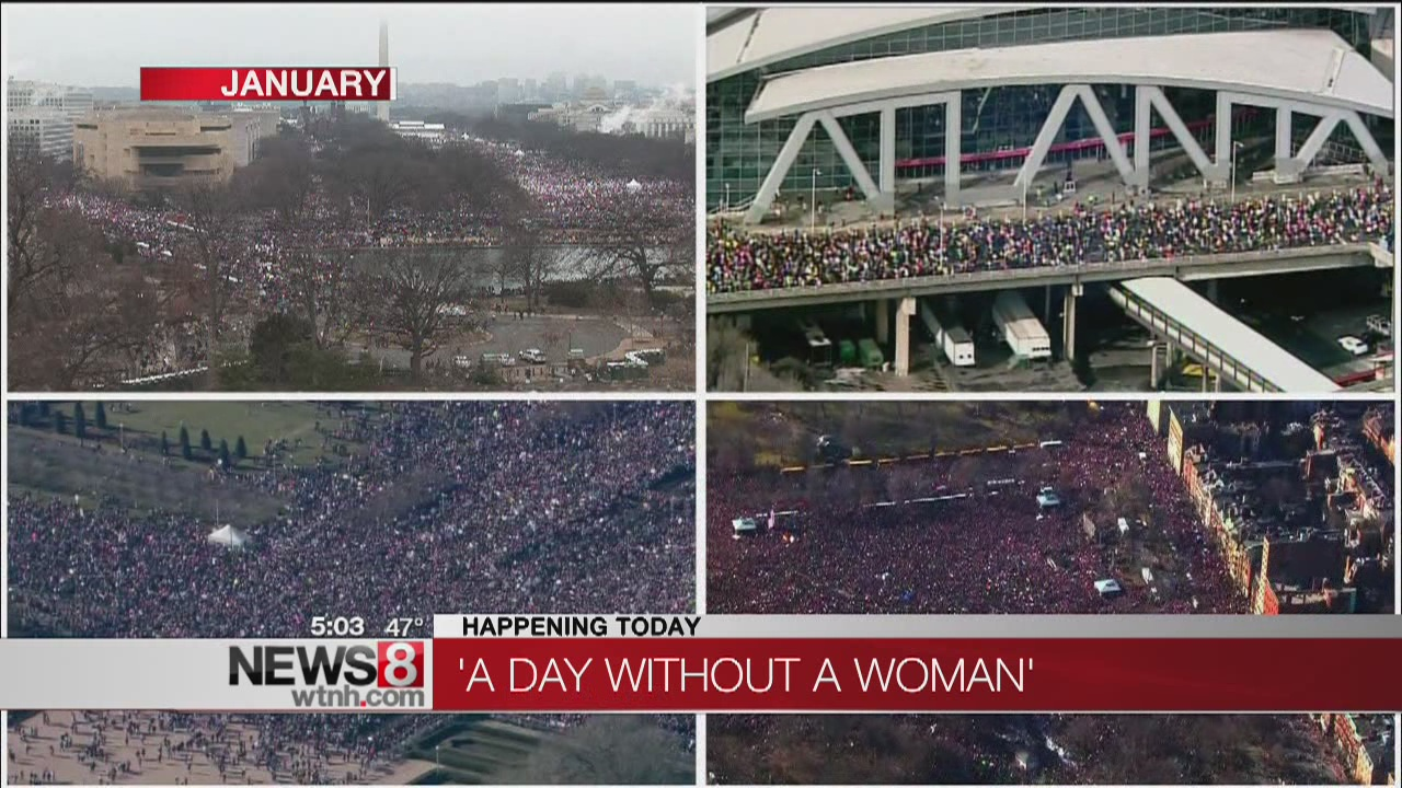 Women come out to support International Women's Day