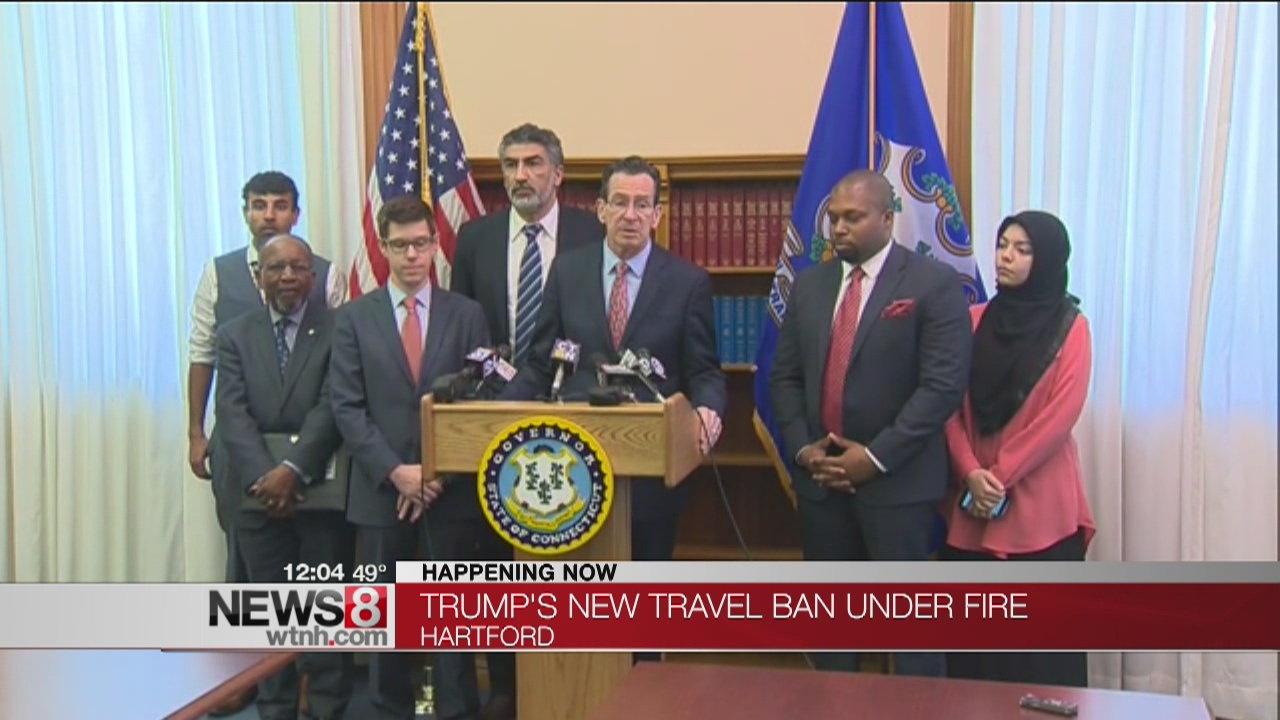 Malloy and civil rights leaders: Travel ban is Muslim ban
