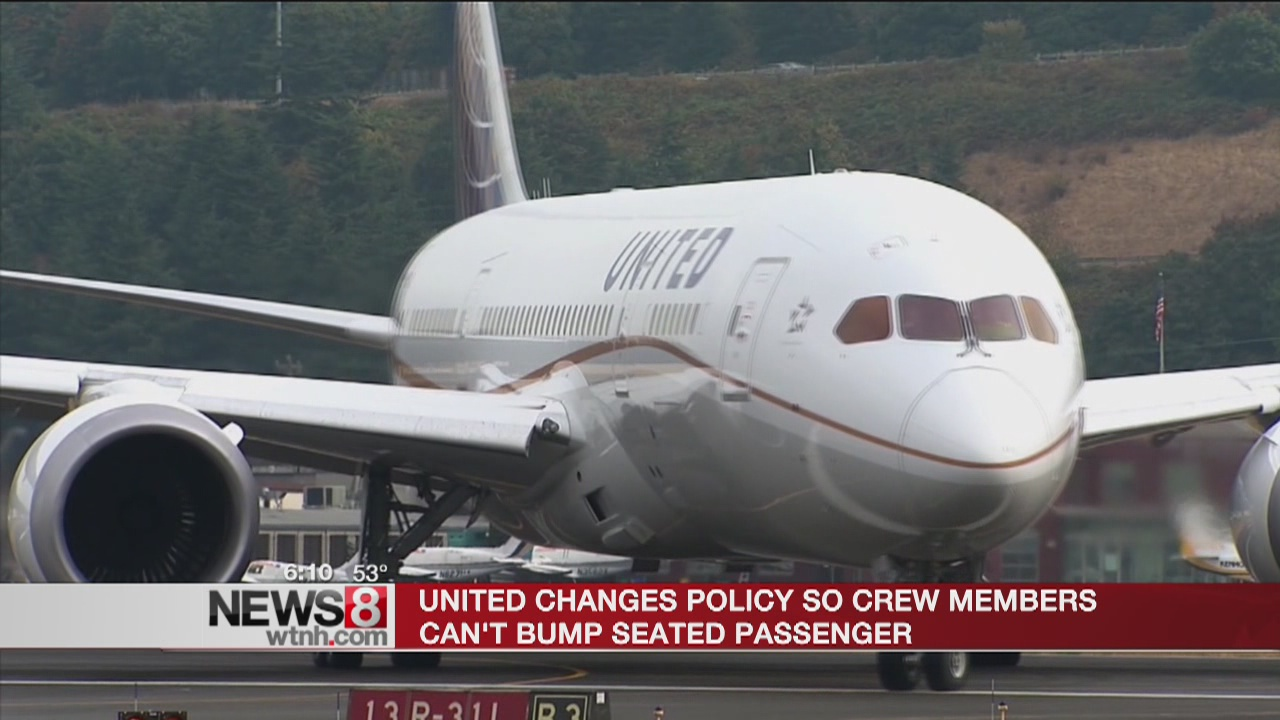 United Airlines makes policy change regarding passengers getting bumped from flights